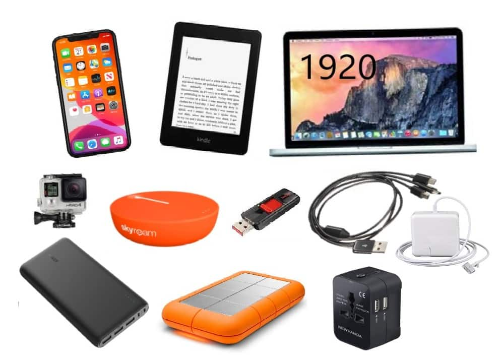 Iphone, Kindle, Macbook Laptop, GoPro, Power Bank, Speaker, USB, Cord, Chargers, Portable Charger, Adapter
