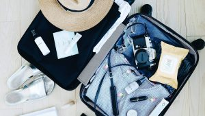 Luggage, Camera, Slippers, Clothes, Colognes, Lipstick, Makeup Wipe, Hat,