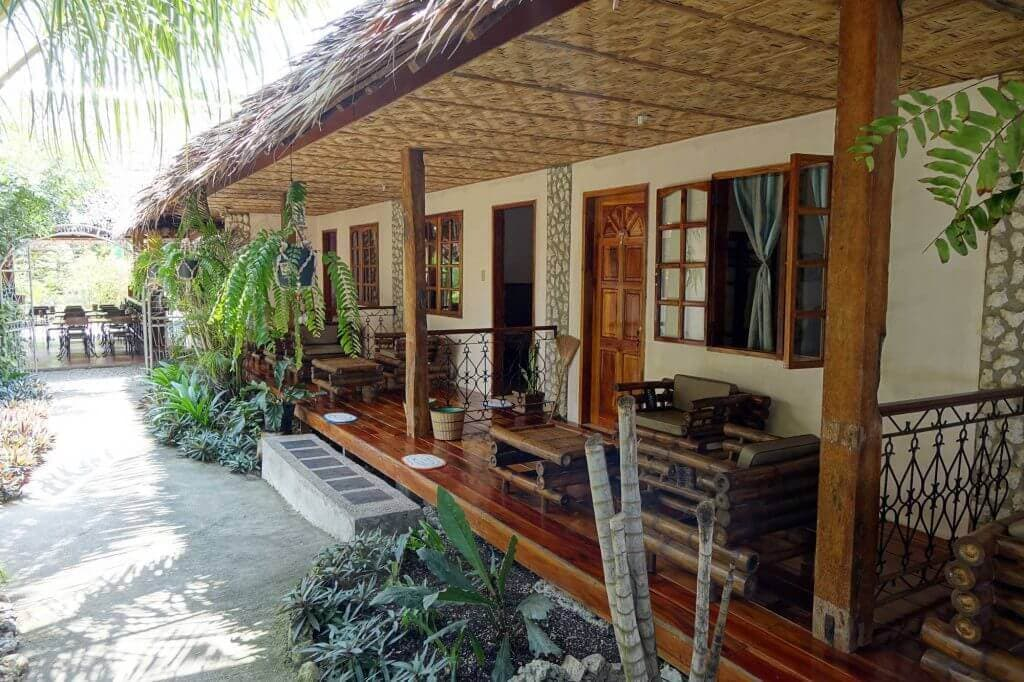 Tipolo Front View,White Sand, Plants,Doors, Windows, Curtains, Porch, Chairs
