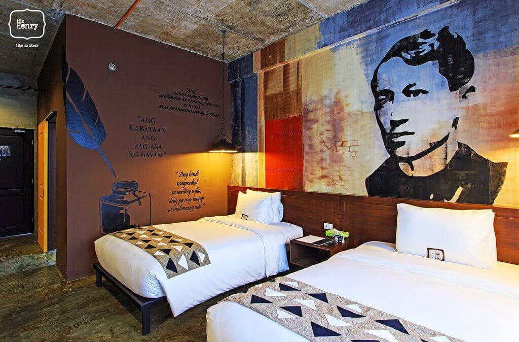 Beds, Nightstand, Hanging Light, A portrait of Dr.Jose Rizal